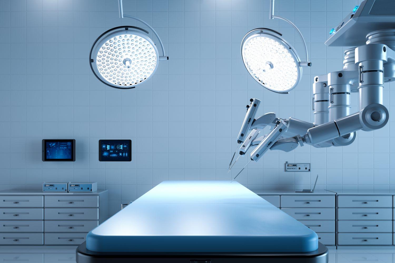 Operationssaal mit einem Chirurgieroboter